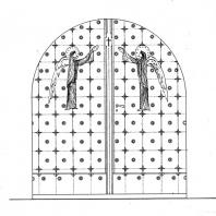 Dveře  do kostela sv. Jakuba většího
