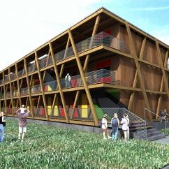Dřevěný pavlačový dům