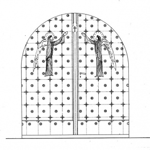 The door in Church of Saint James